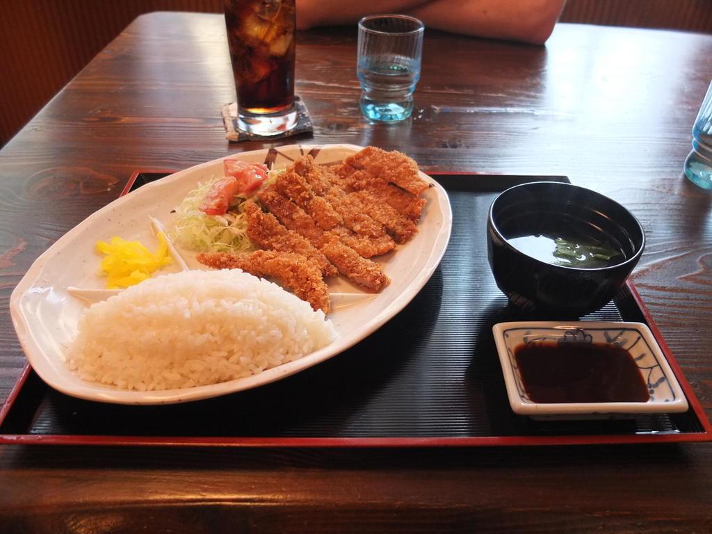 Repas au resto Marumiya
