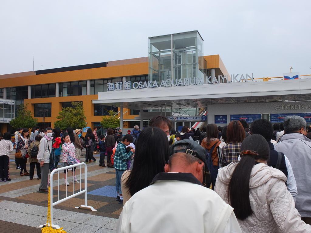 Bon, on est pas seul pour visiter l'aquarium d'Osaka.
