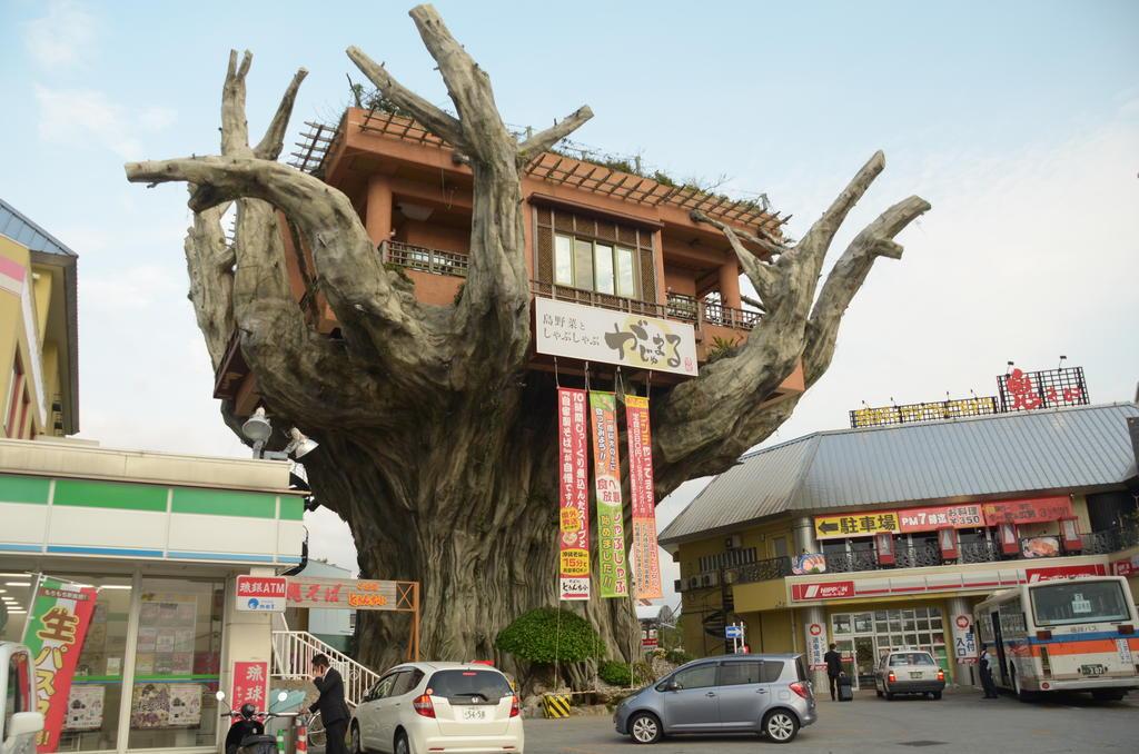 Machin dans un arbre de béton